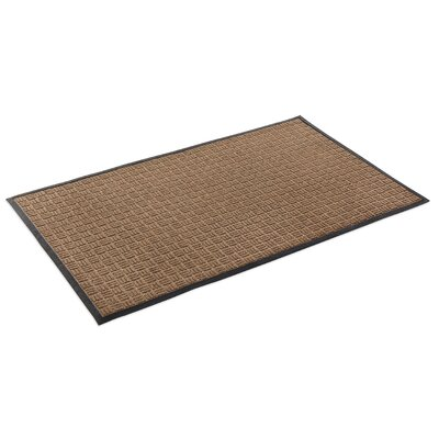 Cobham Water Retainer Rubber Doormat Rug Size: 16 x 26, Color: Brown