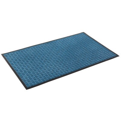 Cobham Water Retainer Rubber Doormat Color: Blue, Rug Size: 2 x 3