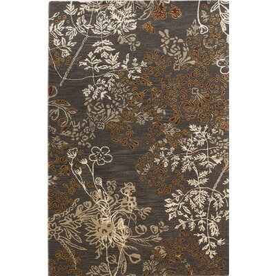 Brunette Hand-Tufted Brown/Gray Area Rug Rug Size: 4 x 6