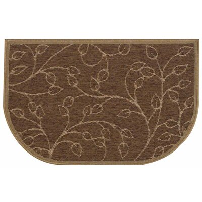 Lakeside Brown Slice Wandering Leaf Doormat
