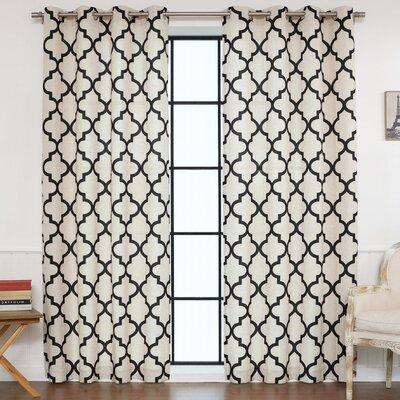 Eldred Moroccan Tile Curtain Panels LFMF3216 45467407