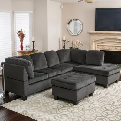 Hardin Sectional Upholstery: Charcoal