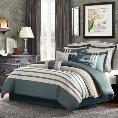 Corvally 12 Piece Comforter Set Size: King