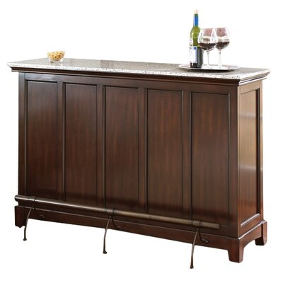 Covington Counter Bar with Wine Storage Size: 38 H x 56 W x 18 D