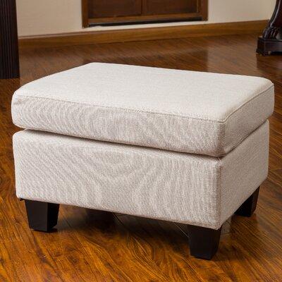 Cranbrook Jae Ottoman Upholstery: Linen Beige