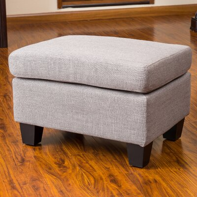Cranbrook Jae Ottoman Upholstery: Ash Grey