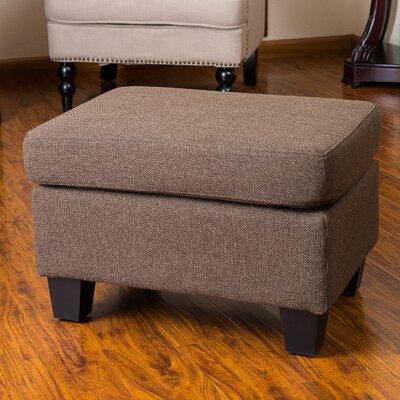 Lampkins Ottoman Upholstery: Chocolate Brown