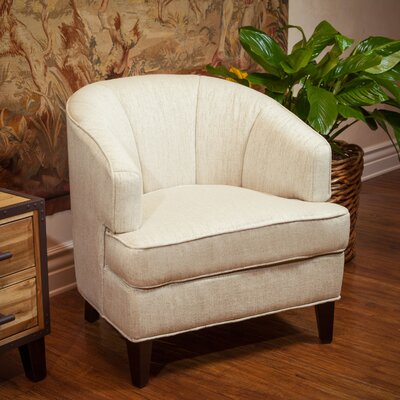 Crescent Barrel Chair Upholstery: Oatmeal