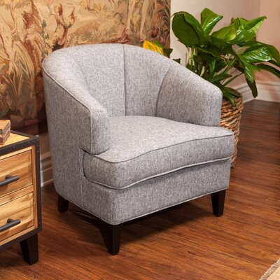 Crescent Barrel Chair Upholstery: Mixed Grey