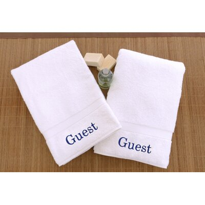 Personalized Hand Towels Font Color: Blue