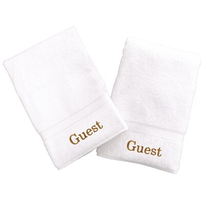 Personalized Hand Towels Font Color: Gold