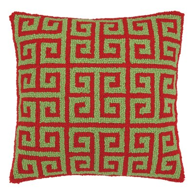 Kirkland Christmas Greek Key Hook Wool Throw Pillow