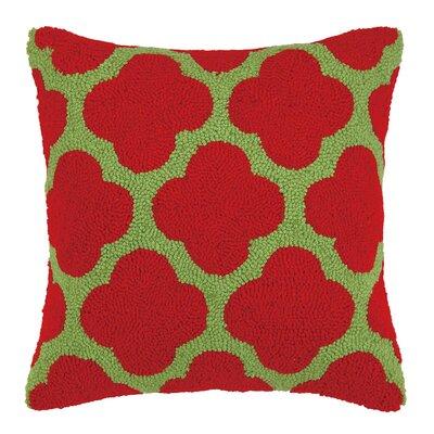 Kirkland Christmas Clover Hook Wool Throw Pillow