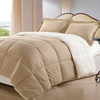 Lancaster 3 Piece Comforter Set Size: Twin, Color: Camel