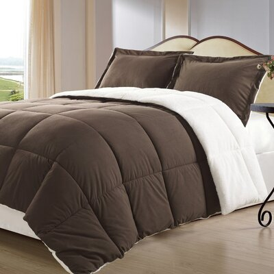 Lancaster 3 Piece Comforter Set Size: Queen, Color: Brown