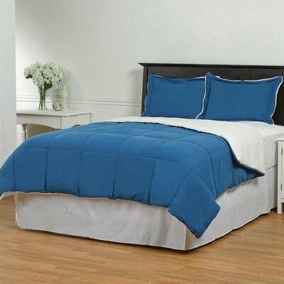 Lancaster 3 Piece Comforter Set Size: Twin/Twin XL, Color: Royal Blue