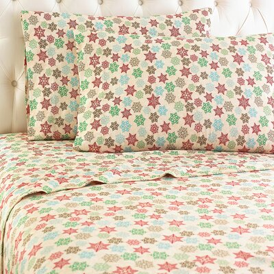 Langport Snowflake Sheet Set Size: Queen