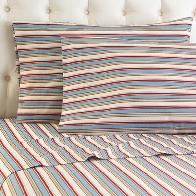 Langport Awning Stripe Sheet Set Size: King
