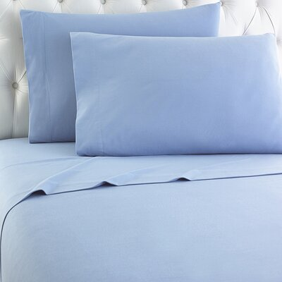 Langport Flannel Sheet Set Color: Wedgewood
