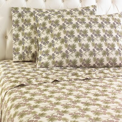 Langport Flannel Sheet Set Color: Pinecone