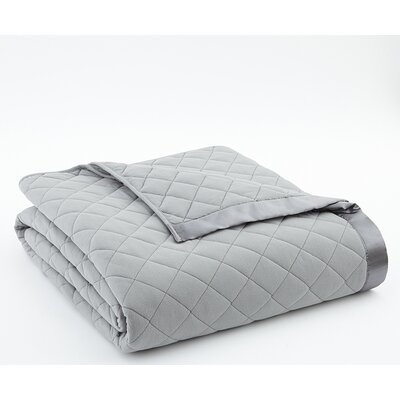 Langport Quilted Blanket Color: Graystone, Size: King