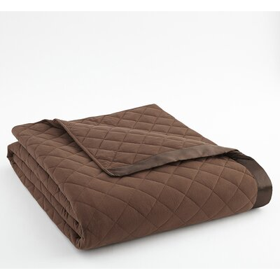 Langport Quilted Blanket Size: Full/Queen, Color: Chocolate