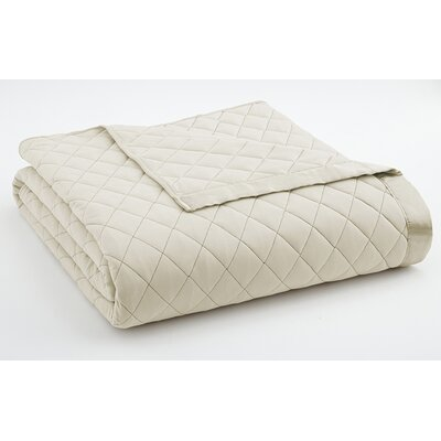 Langport Quilted Blanket Size: Full/Queen, Color: Ivory