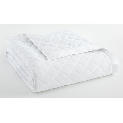 Langport Quilted Blanket Color: White, Size: King