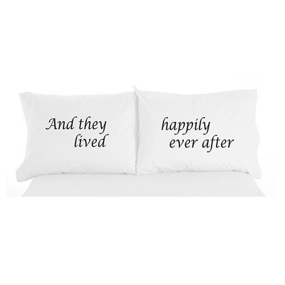 Langport Happily Ever After Inspirational Novelty Print Pillowcase Pair
