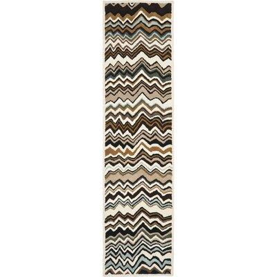 Marquette Brown/Multi Rug Rug Size: Runner 23 x 9