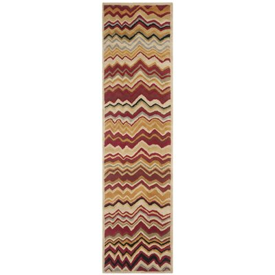 Tanner Red / Multi Rug Rug Size: Runner 23 x 7