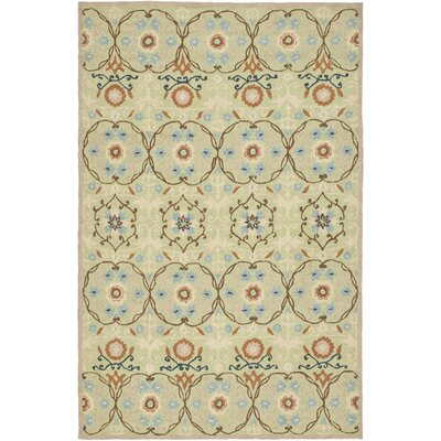 Marquardt Sage / Light Blue Area Rug Rug Size: Rectangle 39 x 59