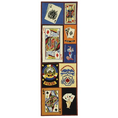Marquardt BlackJack Novelty Rug Rug Size: Runner 26 x 12