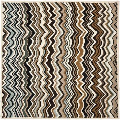 Marquette Brown/Multi Rug Rug Size: Square 7