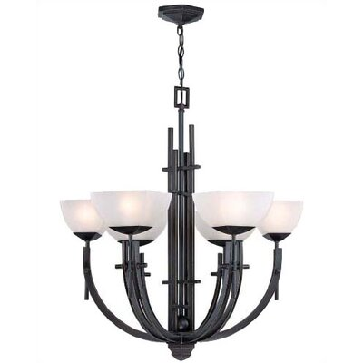 Klein 6-Light Shaded Chandelier