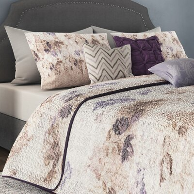 Dalrymple 6 Piece Coverlet Set Size: Full / Queen, Color: Taupe
