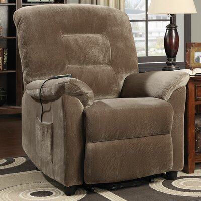 Ivesdale Power Lift Recliner Upholstery: Brown Sugar