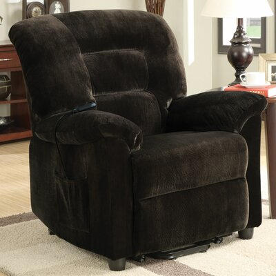 Ivesdale Power Wall Hugger Recliner Upholstery: Chocolate
