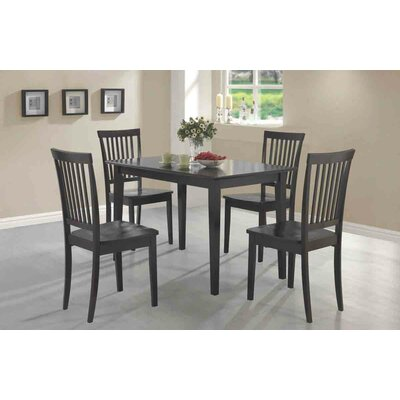 Holcomb 5 Piece Dining Set Color: Cappuccino
