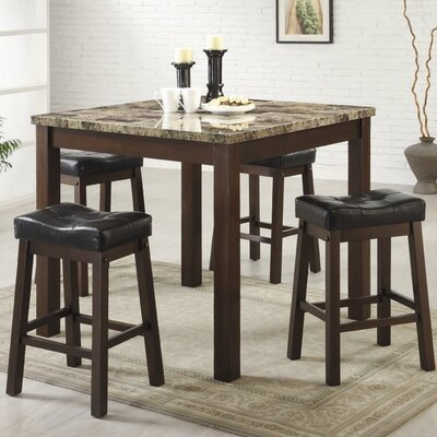 Iverson 5 Piece Counter Height Dining Set