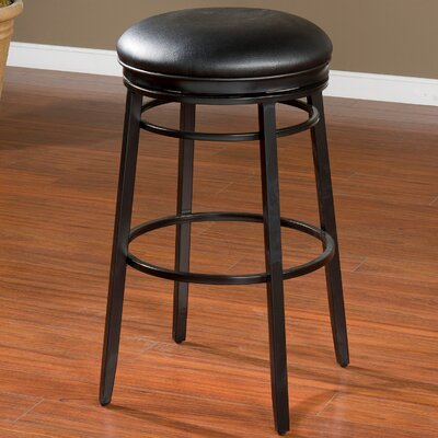 Lafferty 30 Swivel Bar Stool Finish: Black
