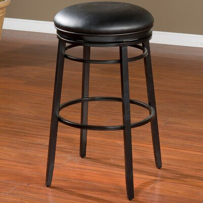Lafferty 26 Swivel Bar Stool Finish: Black