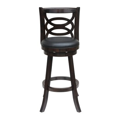 LaGrange 24 Swivel Bar Stool Finish: Cappuccino