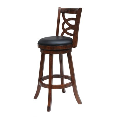 LaGrange 24 Swivel Bar Stool Finish: Walnut