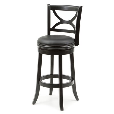 Lakemoore 29 inch Swivel Bar Stool Finish: Solid Black