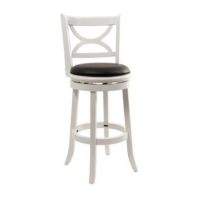 Burr 29 Swivel Bar Stool Bar Stool Finish: White and Black