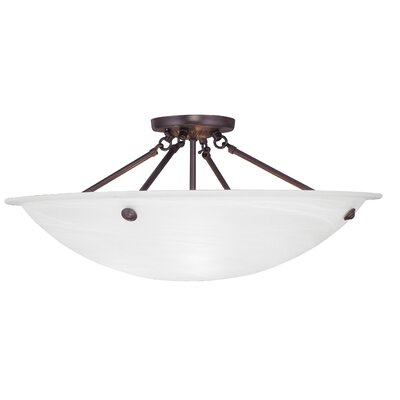 Everett 4-Light Semi Flush Mount Finish: Bronze