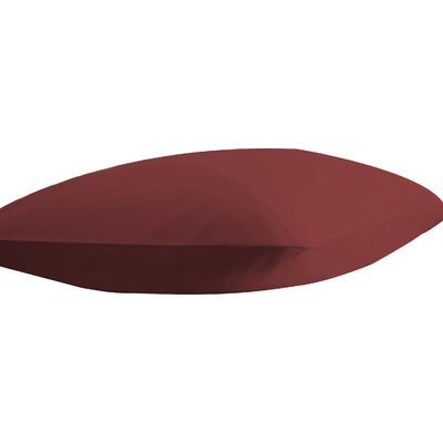 Athens Ultra Soft Pillow Case Color: Burgundy, Size: Standard