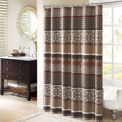 Lakemore Shower Curtain Color: Red