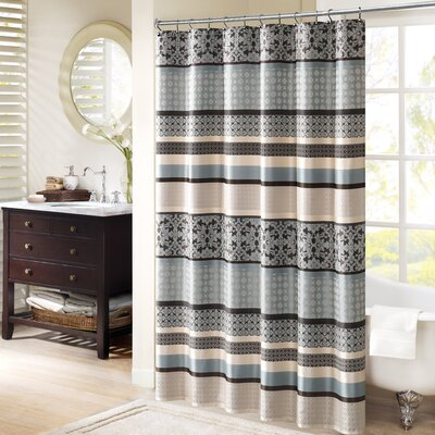 Lakemore Shower Curtain Color: Blue